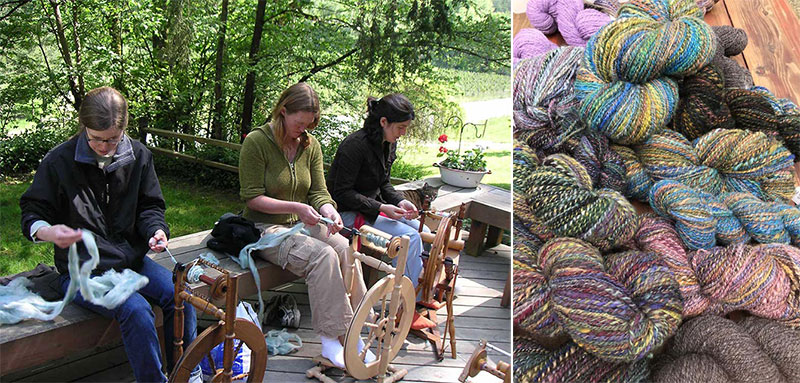 Spinning class and handspun